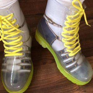 Yellow Jelly Boots Doc Martens Style